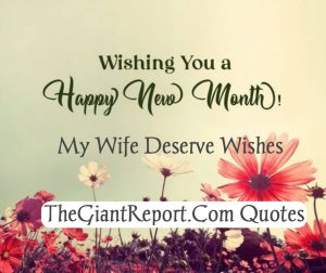 New Month Wishes for wife